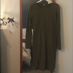 Body con olive green dress